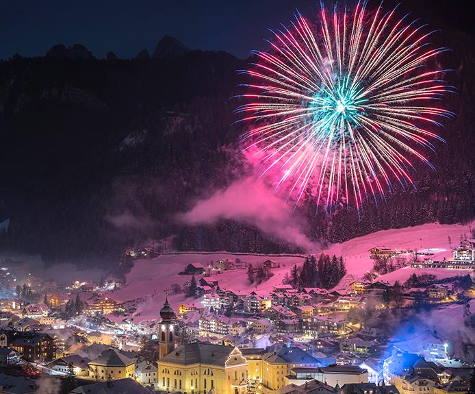 Fireworks in Selva Val Gardena