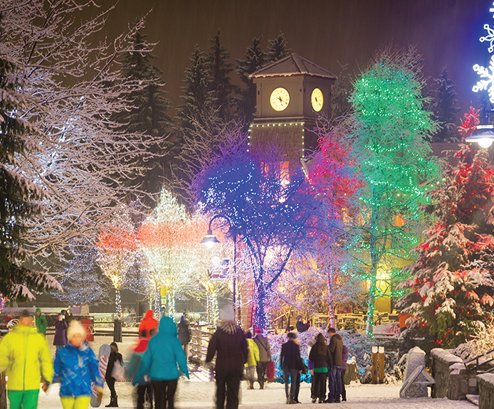 Whistler town at Christmas