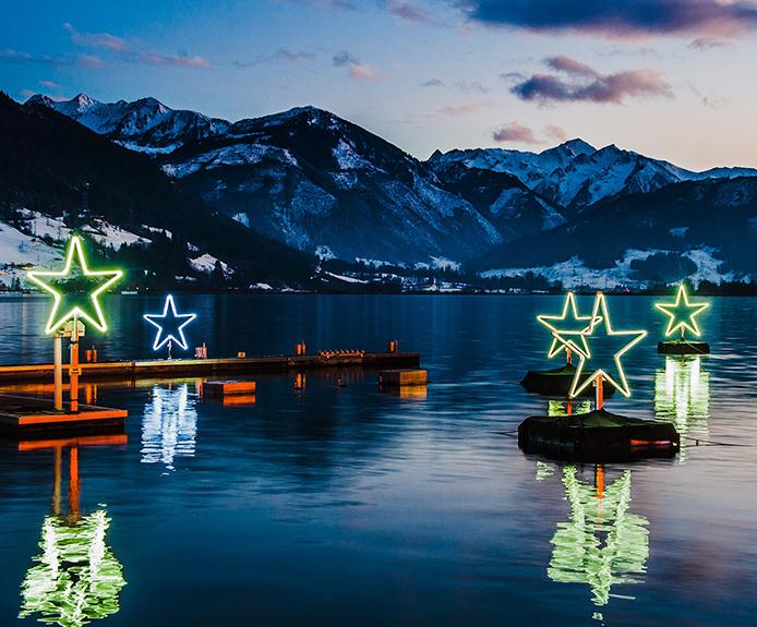 Zell am See lake stars