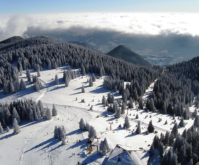 Ski slopes in Pamporovo