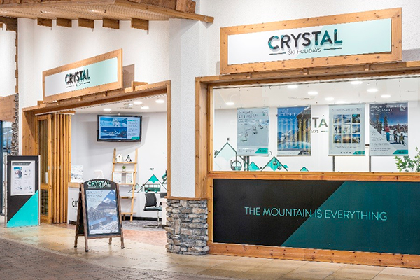 Crystal stand at the snow centre