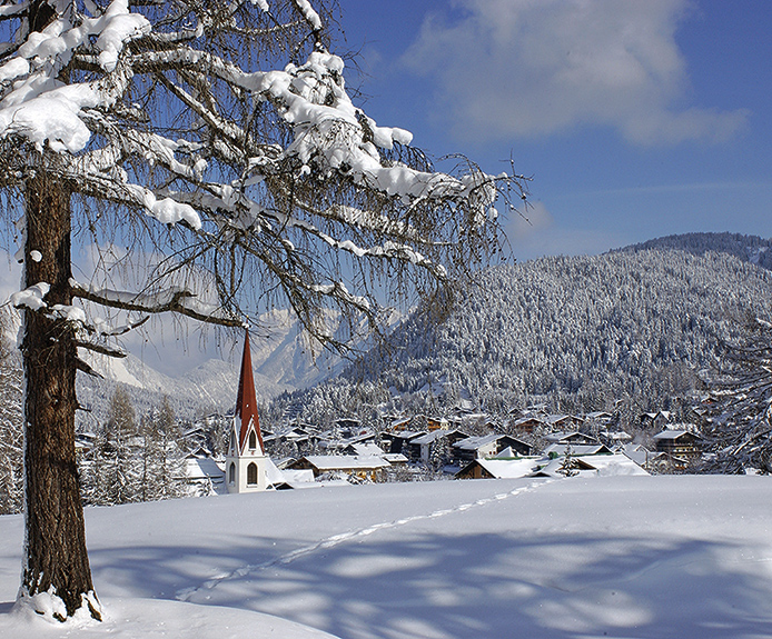 Seefeld town in Austria in winter