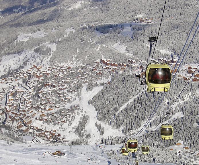 Gondola in Brides-les-Bains ski resort