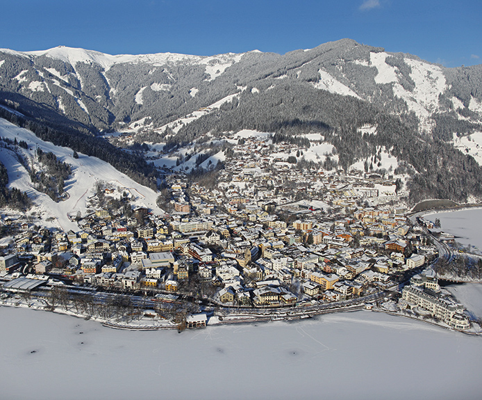 Aerial view of Zell am See