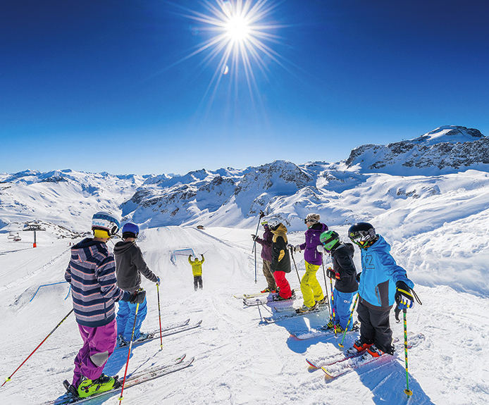 A groups of skiers
