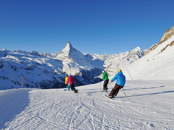 Skiing in Zermatt