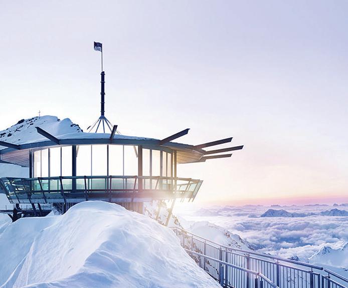 Top mountain star in Obergurgl