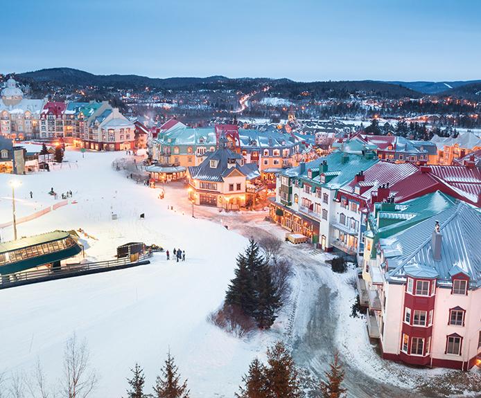 Tremblant ski resort from above