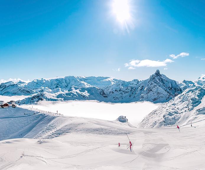 Meribel ski slopes